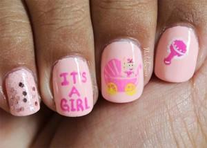 Рисунки на ногтях для беременных фото 54
