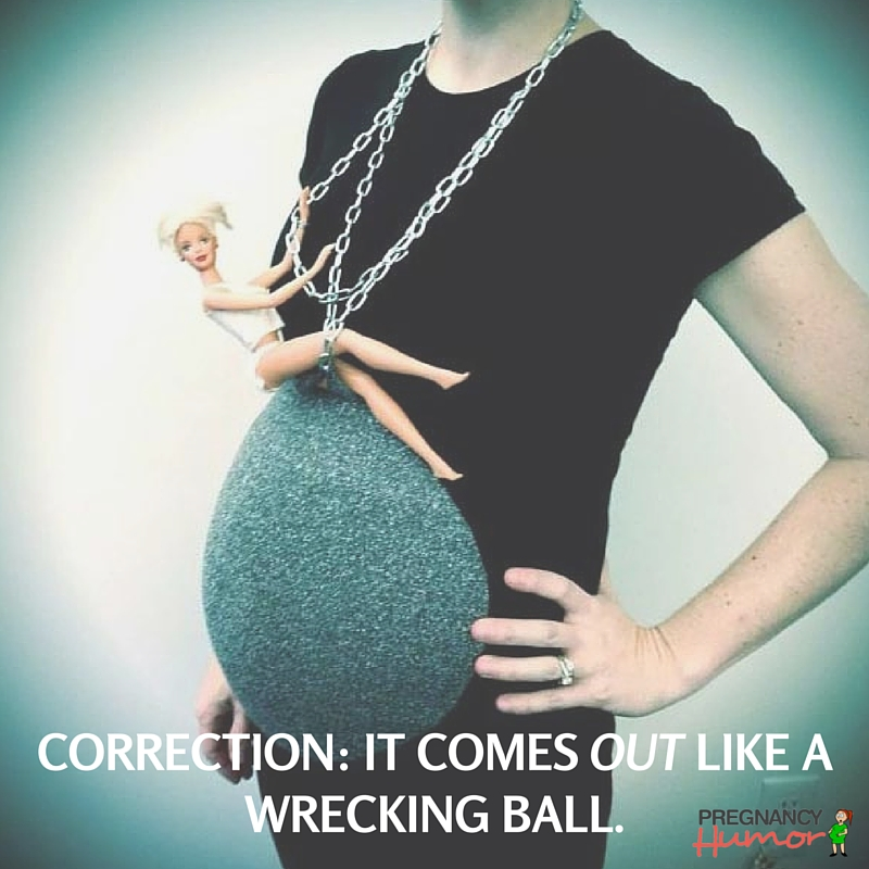 Correction- it comes out like a wrecking ball.